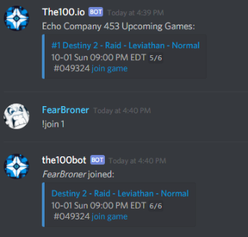 The Division 2 Discord Bot Join