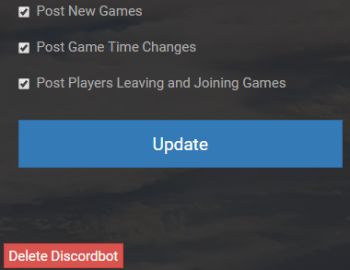 The Division 2 Discord Bot Settings